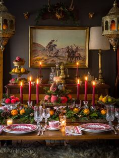 English Christmas tablescape by via 🌲♥️🐝🧡 English Christmas, Cozy Christmas, Country Christmas, Christmas Holidays, Elegant Christmas, Christmas Movies, Christmas 2019, Christmas Trees, Christmas Crafts