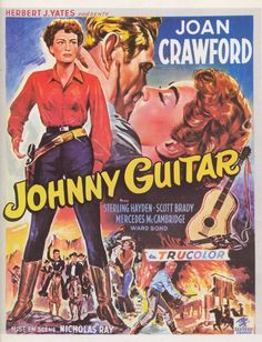 Breaks the mold of the traditional Western by making the Heroine the central figure.   Joan Crawford in Johnny Guitar (1954)