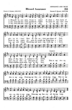Blessed Assurance, one of my favorite hymns