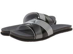 adidas Supercloud Plus Slide Core Black/Silver Met/Clear Grey - Zappos.com Free Shipping BOTH Ways