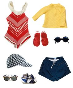 Sweet vintage finds for little ones, perfect for a day on the water.