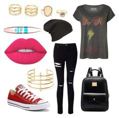 """""""Untitled #698"""" by emilyolson2019 on Polyvore featuring Miss Selfridge, Converse, BauXo, LULUS, Lime Crime and Maybelline"""