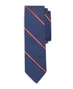 Gingham BB#1 Stripe Tie - Brooks Brothers