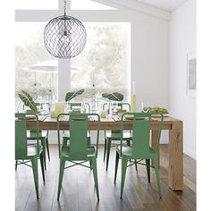 Ming Green Side Chair in Dining Chairs | Crate and Barrel
