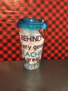 Behind Every Good Teacher is a Great Assistant,  Teacher Tumbler, Customized Tumbler, Personalized tumbler by ChickenCoopGifts on Etsy