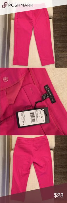 Adrianna Papell Solid Pink Capri Trouser NWT and never worn! Sleek Capri great for a casual or professional occasion. Ask if you have have any questions! Adrianna Papell Pants Capris