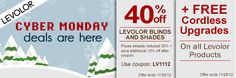 #Levolor #CyberMonday Sale - Save up to 40% Off
