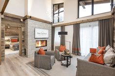 Our penthouse suite EDELWEISS features a luxurious Tyrolean chalet-style design with an exclusive well-being atmosphere. Penthouse Suite, Chalet Style, 5 Star Hotels, House Rooms, Castle, Bedroom, Furniture, Home Decor, Decoration Home