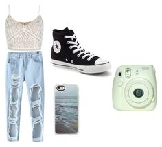 """Untitled #127"" by sydwright17 ❤ liked on Polyvore featuring Chicnova Fashion, New Look, Converse and Casetify"