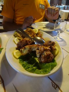 """""""Fried rabbit and fried pumpkin flowers"""" - """"The meal that is worthy of its very own blog post"""" by @Jess_Dante"""