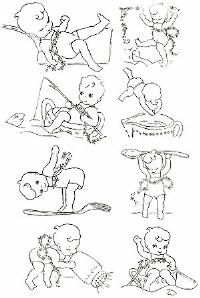Cherubs in the Kitchen little boys activities Vintage embroidery, applique, stencil, paint Transfer Pattern for download