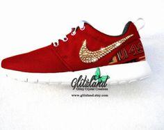 All 4 Swoosh Blinged !! Swarovski Nike Girls 6 / Women 7.5 Pink Nike Roshe  Run Shoes Blinged with SWAROVSKI® Crystals | Nikes girl, Pink nikes and Nike  ...