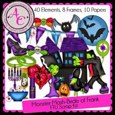 Angela'z Creationz: Scrappin Your Heart Blog Train~Monster Mash