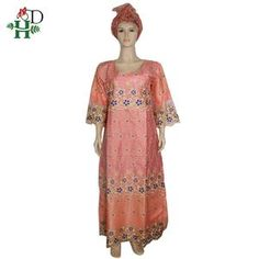 H&D african dresses for women bazin riche clothes embroidery pink maxi dress robe africaine dashiki dress with turban wedding African Dresses For Women, African Women, African Fashion, African Style, Ruffle Collar, Collar Dress, Dashiki Dress, Embroidery On Clothes, Ankara Gowns