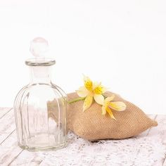 Botella de cristal tipo colonia antigua - pequeña