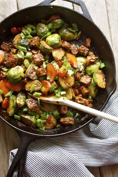 This Brussels Sprout and Tempeh Stir-Fry is ready in just 15 minutes!
