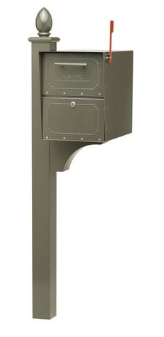 Architectural Mailboxes 6200 Locking Post Mount Mailbox from the Oasis Jr. Serie Bronze Mailboxes Commercial Mailboxes Locking