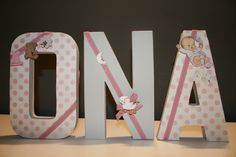 Paper kraft decorated letters