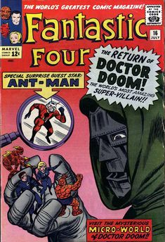 Fantastic Four (vol.1) #16 (july 1963) by Jack Kirby, Dick Ayers & Stan Goldberg #DoctorDoom #Ant-Man
