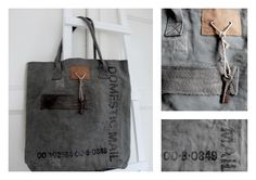 recycled canvas mail bags