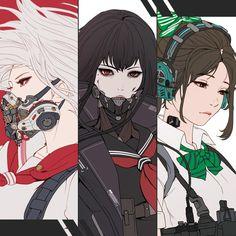 Park JunKyu how to draw anime Cyberpunk Anime, Cyberpunk Art, Character Concept, Character Art, Concept Art, Character Illustration, Art And Illustration, Manga Art, Anime Art