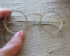 Mens Dress Hats, Men Dress, Men's Jewelry Rings, Round Frame, Etsy Vintage, 1940s, Eyeglasses, Eyewear, Fashion