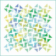 Ocean Breeze Quilt modern basics   free piecing pattern