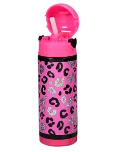 Sparkle Leopard Insulated Water Bottle