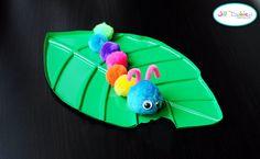 Pom Pom caterpillar (maybe fridge magnet) Meet the Dubiens: crafts