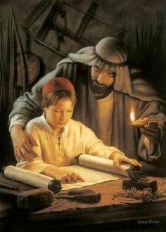 """""""Growing In Wisdom"""". By Mormon/LDS artist, Simon Dewey"""