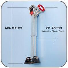 Swing Down Adjustable Leg, ALKO, 420mm-590mm Vertical   Caravan Corner Steady   CaravansPlus