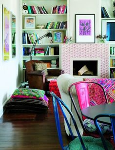 Bright Color Love The Bright Colors In This Room