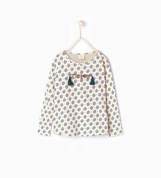 """Image 1 de T-shirt imprimé applique """"DREAM"""" de Zara"""