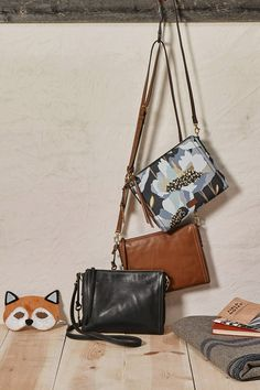 The leather Emma EW crossbody is fit for the girl on the go.
