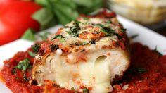 RECIPE: Stuffed Chicken Parmesan Servings: 3 INGREDIENTS 3 chicken breasts, boneless and skinless Salt, to taste 1 cup mozzarella 2 cups flour 6 eggs, beaten...