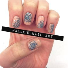 Nailpolis Museum of Nail Art   Blue Henna by Halle Butler