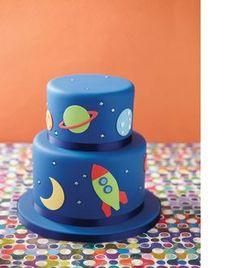 Weltraum Torte
