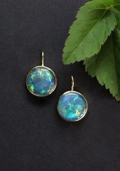 Elegant, Drop Earrings, Jewelry, Blue Green, Rhinestones, Yellow, Handmade, Nice Asses, Classy