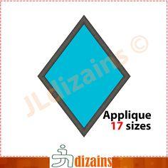 Diamond Shape Applique Design  Machine Embroidery