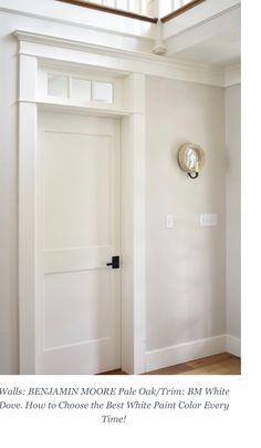 White Paint Colors, Paint Colors For Home, White Paints, House Colors, Trim Paint Color, White Wall Paint, Farmhouse Paint Colors, Wall Paint Colors, Painting Trim