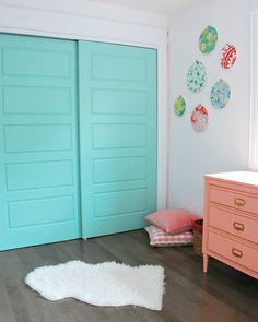 Toddler Girl's Nursery with Ice Cream Accent Wall | Apartment Therapy
