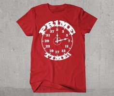 Hilarious Prime Time Math Clock Tshirt by PoutinePress on Etsy, $18.00