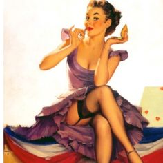 Cute Vintage Pin - Up Girl