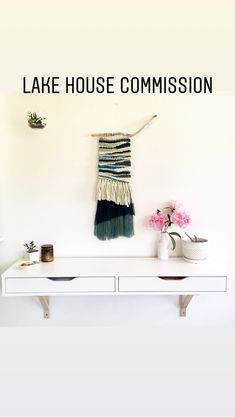 Handwoven wall hanging - House of Woolly Thyme. Weaving