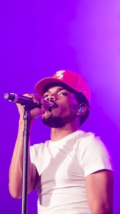 Chance The Rapper Wallpaper Rapper Wallpaper Iphone, Purple Wallpaper Iphone, Rap Wallpaper, Bedroom Wall Collage, Photo Wall Collage, Picture Wall, Purple Wall Art, Purple Walls, Chance The Rapper Wallpaper