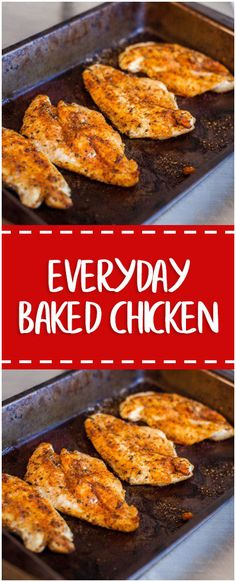 Everyday Baked Chicken #chicken #chickenrecipes #whole30 #foodlover #homecooking #cooking #cookingtips