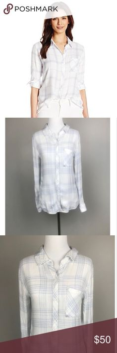 "Rails White Purple Plaid Button Down Shirt Top Rails Womens XS White Purple Plaid Long Sleeve Button Down Shirt Top  Measurements:   Armpit to Armpit: 17"" Length: 25""  (Picture owned by Rails) Rails Tops Button Down Shirts"