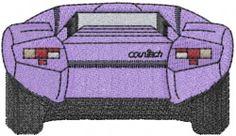 Diablo Car embroidery design