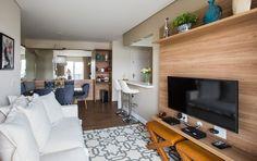 Apartamento de 65 m² com décor clean e áreas integradas
