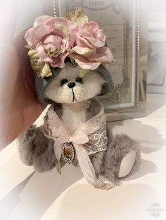 Excited to share this item from my shop: Shaz Bears panda grey and white 20 cm Vintage Teddy Bears, Cute Toys, Cute Bears, Australian Artists, Shabby Chic Homes, Panda, Kit, Etsy Shop, Handmade